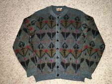 Vintage Campus Wool Mohair Cardigan Sweater Made in USA Mens Large