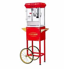 Vintage 8 Oz Red Kettle Popcorn Machine Popper Maker Cart Funtime Movie Style