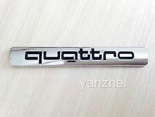 AUDI Quattro Schwarz Emblem Schriftzug Logo Aufkleber A3 A4 A5 A6 A7 A8 Q5 Q7