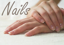 SALON SPA HEALTH BEAUTY NAILS MANICURE POSTER PRINT A4 260GSM