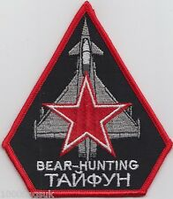RAF Royal Air Force Typhoon Bear Hunting Embroidered Crest Badge Patch