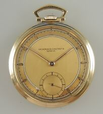 Genuine Solid 14K Gold VACHERON and CONSTANTIN Pocket Watch c1940