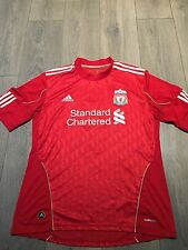 Liverpool Home Shirt 2010/12 Gerrard 8 Official Large Rare
