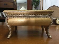 Vintage Wooden Golden Jewelry Music Box