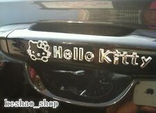 2pcs/Set Hello Kitty PVC 3D Car Door Handle Stickers Decoration Decals 4.3x1.5""