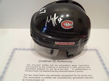 Max Pacioretty Autographed Montreal Canadiens Helmet COA VERY NICE Silver Pen!