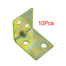 Amico 10 Pcs 25x25x16mm 90 Degree Metal Right Angle Bracket Shelf Support LW