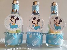 12 Mickey Mouse Fillable Champagne Bottles Baby Shower Boy Favors First Birthday