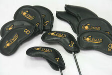 10 Golf Mad Leather Iron Covers Golf Headcovers for Callaway Taylormade Mizuno