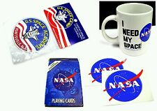 I Need My Space NASA Mug Coffee Tea Cup +All Missions Cards +2 Stickers + Emblem