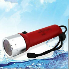 Red Q5 LED Waterproof Underwater Dive Diving Scuba Light Flashlight Torch Lamp