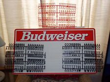 3ft Budweiser Menu Board Sign w/letter & number sets!