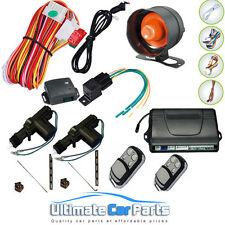 NEW CAR ALARM + 2 DOOR REMOTE CENTRAL LOCKING KIT WITH SHOCK SENSOR,IMMOBILISER