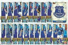 2015 / 2016 EPL Match Attax EVERTON Master Set (61 Cards)