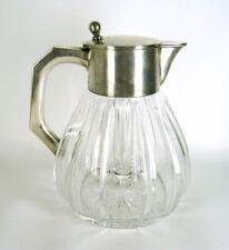 Alte Kalte Ente aus Kristall-Glas & 835er Silber ca. 1920 Jugendstil / Art Deco