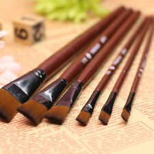 6Pcs Nylon Acrylic Oil Paint Brushes For Art Artist Supplies Watercolor Painting