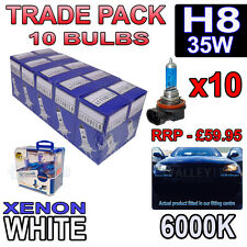 10 x H8 35w Xenon White Halogen Bulbs 6000k - Trade Bulk Wholesale 10 Pack Fog