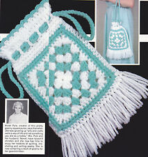 Crochet Pattern ~ GRANNY SQUARE TOTE Bag, Purse ~ Instructions
