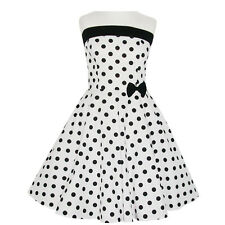 Rockabilly 50er Neckholder  Kleid Petticoat Pin Up Party Baumwolle L 103 44