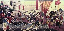 Japanese Samurai Warriors Kagoshima Battle 1880 Army Military 7x3 Inch Print