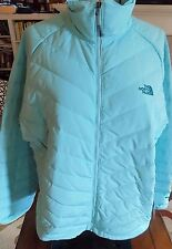 NWT THE NORTH FACE Women's Venia Down Jacket Puffer Packable 2XL $249  MINT BLUE