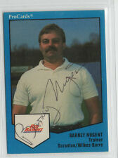 Barney Nugent 1989 ProCards signed auto autographed card Giants