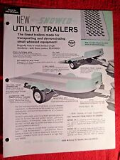 1966 ALLIS CHALMERS SNOCO UTILITY TRAILER FOR LAWN TRACTORS DEALER BROCHURE