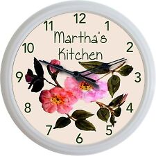 Franciscan Desert Rose Wall Clock Custom Personalized Kitchen Image New 10""