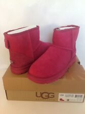 UGG Australia Classic Mini Exotic Scales Suede/Sheepskin Womans Boots 8 US/39 EU
