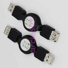 2pcs USB A Male to Female M/F Extension Retractable USB Cable A-A 32 Inch 80cm