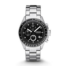 Fossil Men's CH2600 Decker Chronograph Black Dial Stainless Steel Bracelet Watch
