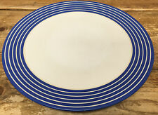 Denby Intro Blue Stripe Cobalt Royal 1 Dinner Plate White Bands England 2nd ?