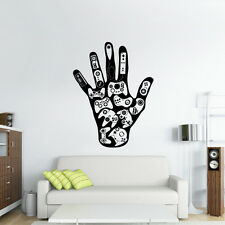 Wall Decal Vinyl Sticker Game Hand Controllers Ps3 Xbox ART (Z2635)