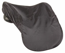 FULL COVERAGE ALL PURPOSE BLACK LYCRA PROTECTIVE ENGLISH HORSE SADDLE COVER