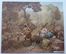 "ORIGINAL 1902 'THE STUDIO' WATER-COLOUR PRINT "" THE WOODCUTTER"" BY J. CRISTALL"
