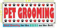 PET GROOMING Banner Sign NEW Larger Size DOGS CATS Large Animal 4 Truck Van Shop