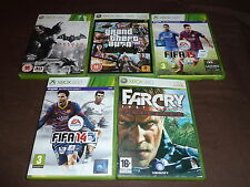 JOB LOT 5 XBOX 360 GAME Boxed GTA Episode Liberty Batman Arkham City FIFA FarCry