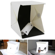 "20-LED Light Room Photo Studio 9""Photography Lighting Tent Backdrop Cube Box Kit"
