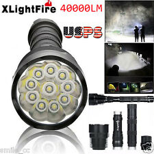 XLightFire 40000 Lumens 11x CREE XML T6 5 Mode 18650 Super Bright LED Flashlight