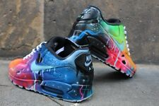 Custom Nike Air Max 90 Blue Galaxy cortos aerógrafo graffiti