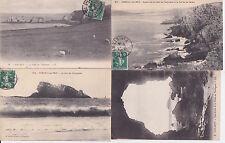 Lot 4 cartes postales ancienne CAMARET-SUR-MER pointe du toulinguet