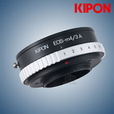 Kipon adapter with aperture for Canon EF EOS mount lens to micro 4/3 M4/3 camera