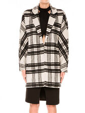 Finders Keepers Black & White Tartan Stand Still Cocoon Jacket Coat New 10 12