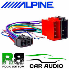 ALPINE CDE-W203RI Car Radio Stereo 16 Pin Wiring Harness Loom ISO Lead Adaptor