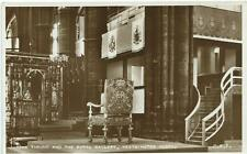 Vintage Sepia Postcard of The Throne & The Royal Gallery, Westminster Abbey