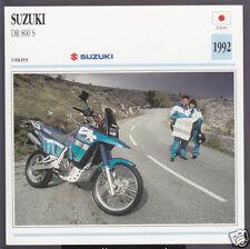 1992 Suzuki DR 800 S (779cc) Japan Sport Bike Motorcycle Photo Spec Info Card