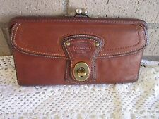 Coach Whiskey Brown Wallet Vachetta Leather 40706 Legacy Gigi Slim Env