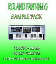 ROLAND FANTOM G SAMPLES  FOR APPLE LOGIC PRO EXS-24 + WAV FORMATS - 12 DVD'S