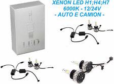 Kit luce XENON LED COMPLETO ultra bianco 6000K omologato. Xeno.H1,H4,H7. 12V 24V
