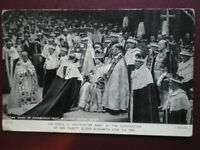 POSTCARD ROYALTY WESTMINSTER ABBEY 1953 QUEENS CORONATION